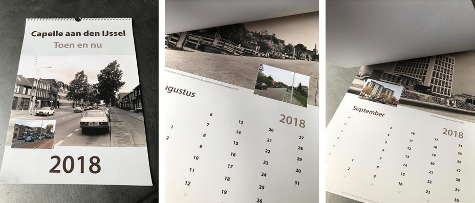 CAPELLE… TOEN EN NU, EEN UNIEKE KALENDER 2018